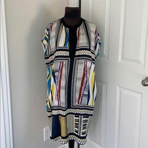 Diane Von Furstenberg geometric silk dress
